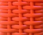 cesto expositor vime cor laranja