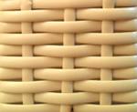 cesto expositor vime cor marfim