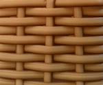 cesto expositor vime cor tijolo