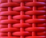 cesto expositor vime cor vermelho