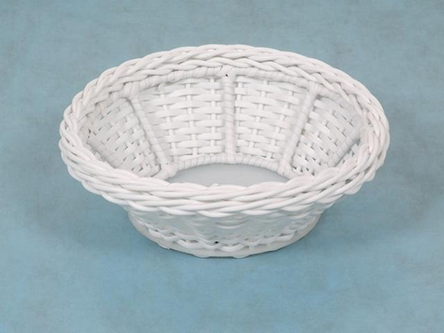cesta vime sintetico conica branca